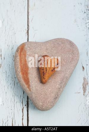 Cuore di pietre sagomate Foto Stock