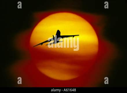 Piano battenti in sunset Foto Stock