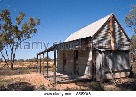 Red Bank capanna in Culgoa Floodplain National Park nel centro sud del Queensland Australia Foto Stock