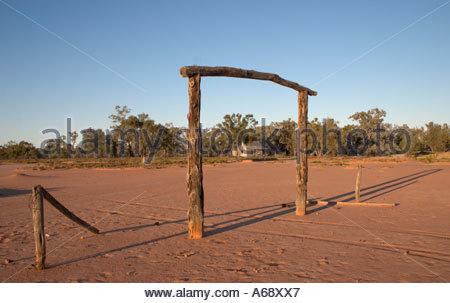 Porta di ingresso a Red Bank Hut Culgoa Floodplain National Park nel centro sud del Queensland Australia Foto Stock