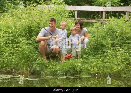 Pesca della famiglia
