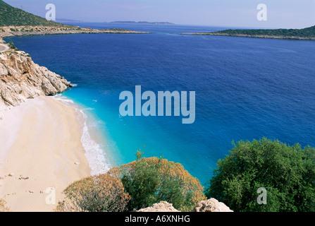 Spiaggia di Kaputas Lycia Anatolia Turchia Asia Asia Minore Foto Stock