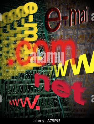 La posta elettronica di comunicazioni elettroniche Foto Stock