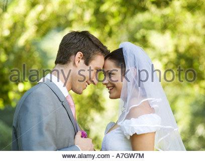 La sposa e lo sposo Foto Stock