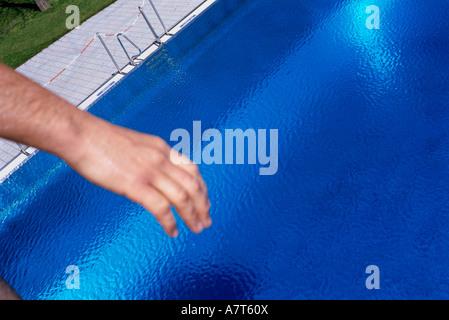 Close-up di mano d'uomo Foto Stock