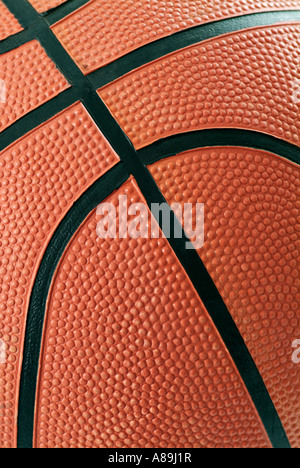 La pallacanestro Close Up Foto Stock