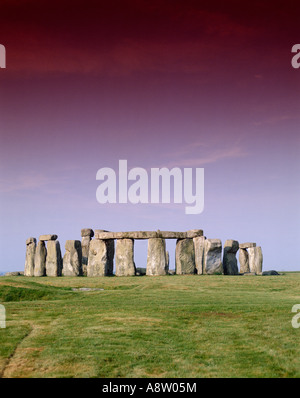 In Inghilterra. Wiltshire. Stonehenge monoliti preistorici cerchio. Foto Stock