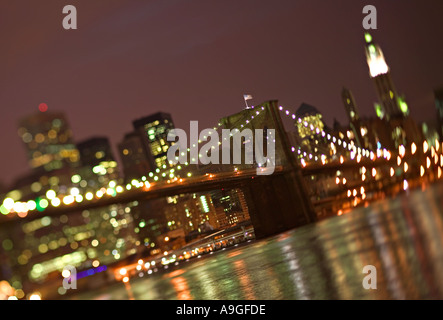Ponte di Brooklyn, New York City, Stati Uniti d'America Foto Stock