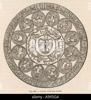 Antichi arabi zodiaco Foto Stock