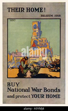 Di guerra britannici Poster legami Foto Stock