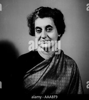 IND030601 Primo Ministro indiano Indira Gandhi durante una speciale sessione di foto a Nuova Delhi il 8 settembre Foto Stock