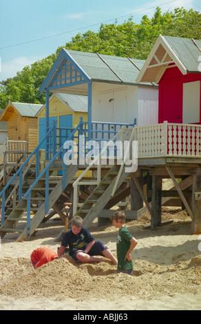 Capanne di spiaggia Foto Stock