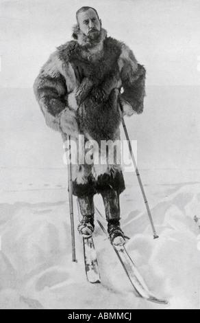Il capitano Roald Engelbregt Gravning Amundsen 1872 al 1928 esploratore norvegese delle regioni polari Foto Stock