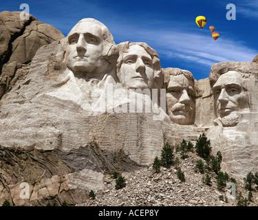 Stati Uniti d'America - Dakota del Sud: Mount Rushmore National Memorial Foto Stock