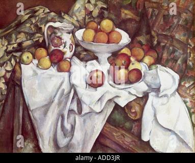 """""""Belle Arti, Cezanne, Paolo (1839 - 1906), pittura, """" Mele e arance', 1895 - 1900, olio su tela, il Museo d' Orsay, Parigi, FR"""
