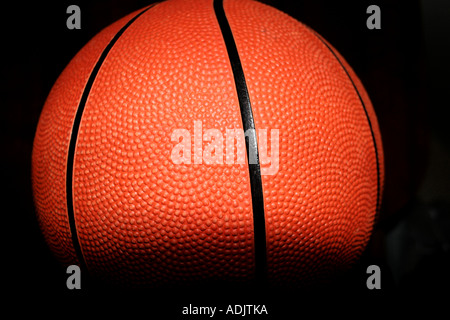 Una palla da basket close up Foto Stock