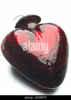 A forma di cuore ad ornamento Foto Stock