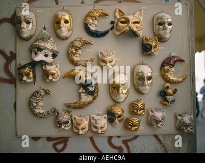 Visualizzare decorativo di carnevale veneziano maschera facciale Mardi Gras, Foto Stock