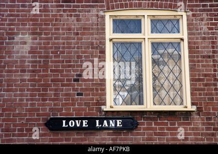Cartello stradale sul lato di un edificio Margate Kent England Foto Stock