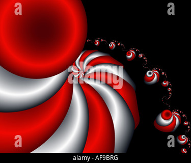 Abstract frattale somigliante a dancing twisted turbanti Foto Stock