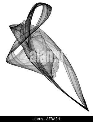 Abstract frattale somigliante a twisted frabric Foto Stock