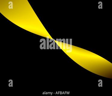 Abstract frattale che assomiglia a un twisted nastro color oro Foto Stock