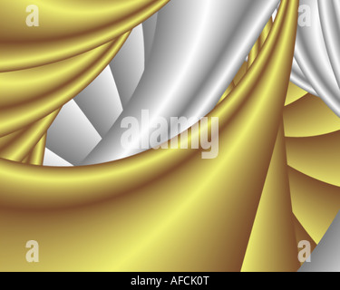 Abstract frattale somigliante a twisted tessuto satin Foto Stock