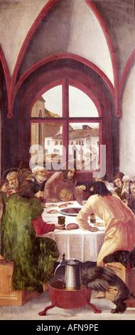 """""""Belle Arti, Altdorfer, Albrecht, (1480 - 1538), pittura, 'l'ultima cena', collezioni d'arte del Land della Baviera, Europa"""