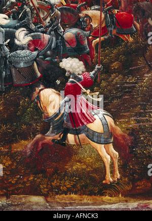 """""""Belle Arti, Altdorfer, Albrecht, (1480 - 1538), pittura, 'Alexanderschlacht' ('battaglia di Alessandro il Grande'), dettaglio '"""