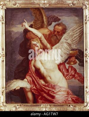 """Belle Arti, Boeckhorst, Jan van, (1605 - 1668), pittura, 'Daedalus e Icaro"", il castello di Schleißheim, Monaco Foto Stock"
