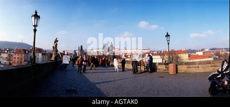Charles Bridge / Karlova deve Foto Stock