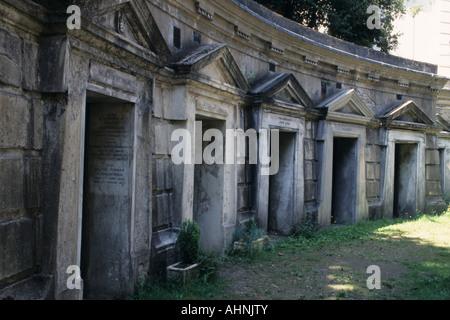 Cerchio del Libano, il cimitero di Highgate, Londra Foto Stock