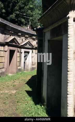 Cerchio del Libano, il cimitero di Highgate West, Londra Foto Stock