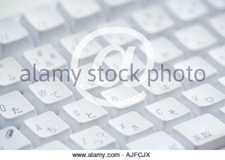 A simbolo e tastiera Foto Stock
