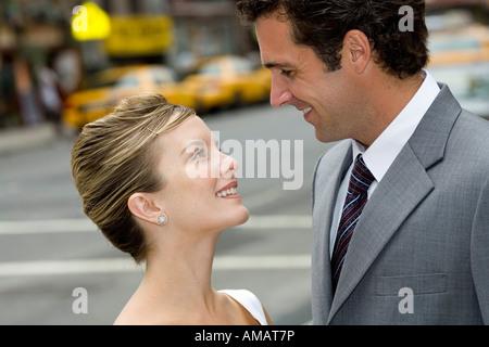 La sposa e lo sposo in New York Foto Stock