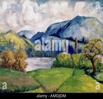 Belle arti, Cezanne, Paolo (1839 - 1906), la pittura, il Kunsthaus Zürich, Francese, impressionsm, natura, albero, Foto Stock