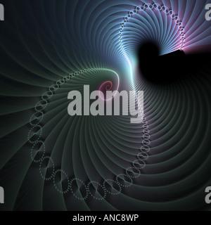 Abstract frattale somigliante a ritorto cerchi a spirale Foto Stock