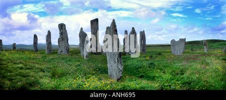 Callanish Stornoway megaliti Ebridi Esterne Lewiss Scozia UK Europa