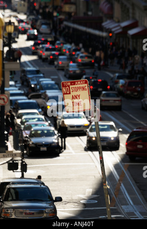 Nessun arresto in qualsiasi momento su Powell, San Francisco CA Foto Stock