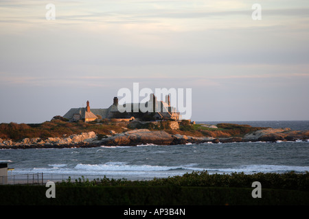 Case esclusive su Ocean Drive a Newport, Rhode Island, STATI UNITI D'AMERICA Foto Stock