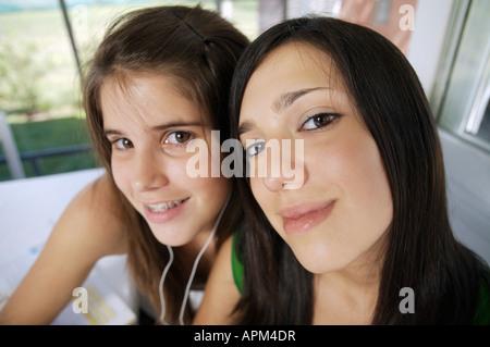 Ritratto di due adolescenti Foto Stock
