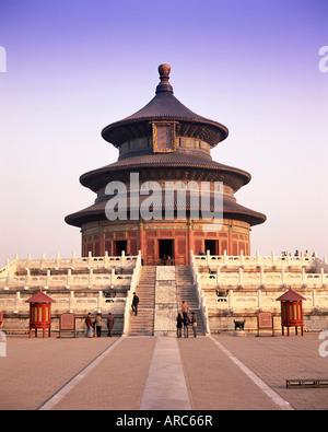 La Sala della Preghiera del Buon Raccolto, il Tempio del Cielo Tiantan Gongyuan, Sito Patrimonio Mondiale dell'UNESCO, Foto Stock