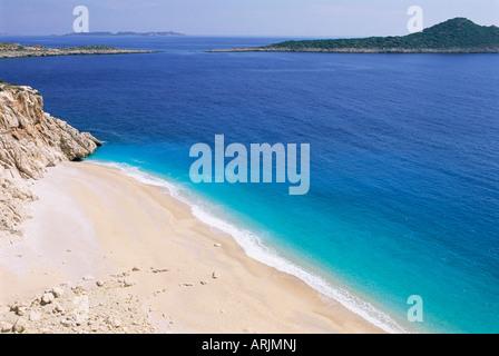 Spiaggia, Kaputas, Lycia, Anatolia, Turchia, Asia Minore, Asia Foto Stock