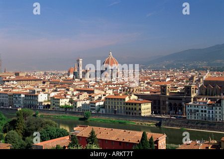 Vista sullo skyline della città di Firenze, Toscana, Italia, Europa Foto Stock