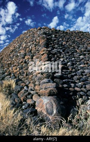 Puukohola Heiau, un sito storico nazionale, fu costruito tra il 1790-91 da Kamehameha I, Kawaihae, Sud Kohala