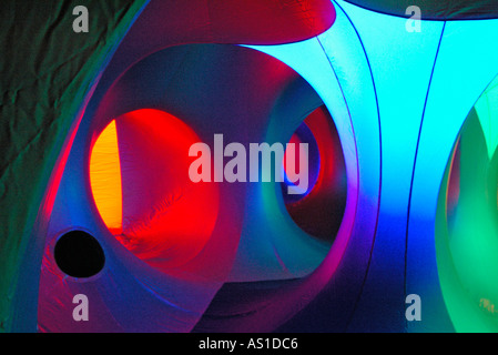 Gonfiato AMOZOZO LUMINARUM a Clapham North Yorkshire Foto Stock