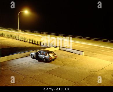 Parcheggio auto Foto Stock