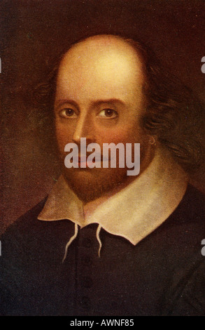 William Shakespeare,1564 -1616. Poeta inglese, drammaturgo e attore. Foto Stock