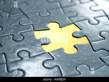Puzzle, un pezzo mancante Foto Stock