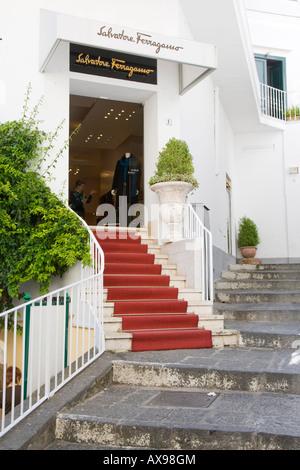Salvatore Ferragamo sistemazione shop Capri Capri Italia Foto Stock